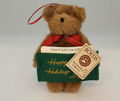 Boyds Bears Plush Ornament 2006 Holly - Thinking of Ya - Gift Card Holder 903614