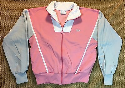 Early 80's Vintage Adidas Women's Knit Jacket Zip Front Sz M NR