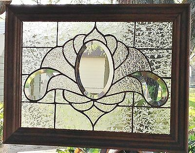 Stained Glass Window Art Panel  Suncatcher Clearly Bevels Tiffany Style