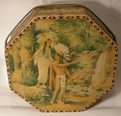 Loose-Wiles Hiawatha's Wedding Journey Biscuit Tin