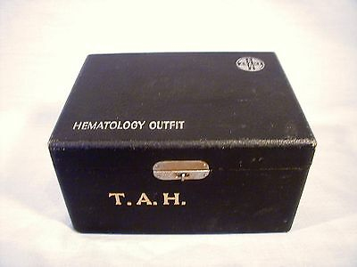 "ANTIQUE MEDICAL ""ADAMS"" HEMATOLOGY OUTFIT with ORIGINAL INITIALED CASE"