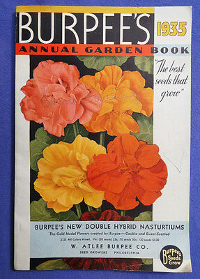 1935 Burpee's Annual Garden Book Catalog Seeds Vegetables Flowers