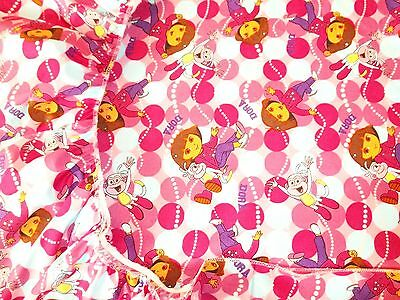 New Hand Made Dora & Boots Balloon's Print Fitted Crib/Toddler Sheet
