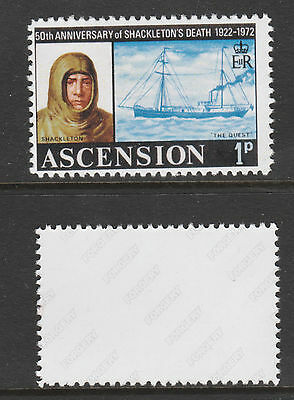 Ascension 3065 - 1972 SHACKLETON  wrong value -  a Maryland FORGERY unused