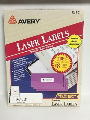 Avery 5162 Laser Labels 1400