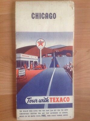 Vintage Texaco Map of Chicago See Pics