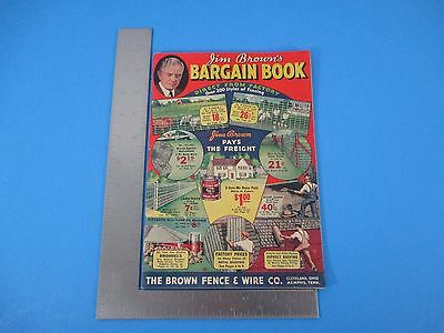 Jim Brown's Bargin Book Brown Fence & Wire Cleveland OH Memphis TN 1930's 3085