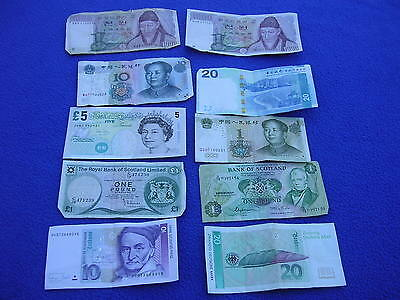 Mixed Lot of 10 World Paper Money Currency Bills