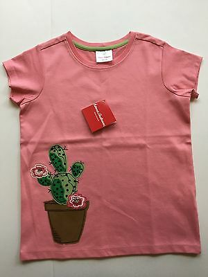NWT Hanna Andersson Size 140 Pink Cactus Appy Appliqué Tee Shirt Top T-Shirt