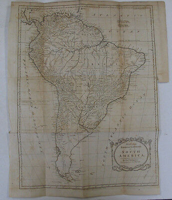 Antique Map South America Removed From Settlements Trade East West Indies 1798