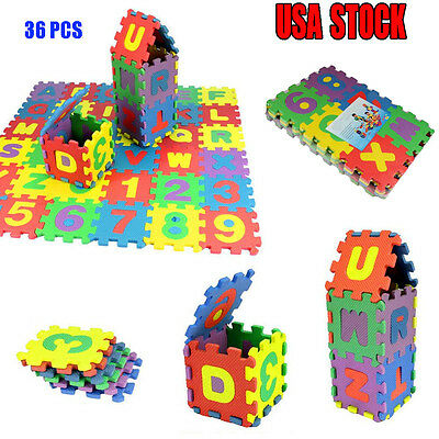 36 PCS Baby Child Number Alphabet Puzzle Foam Maths Educational Toys Gifts 2017