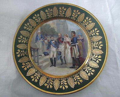 Antique French Fine Porcelain Cabinet Plate~Napoleon & Queen Louisa of Prussia