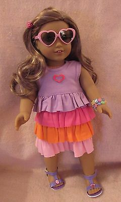 Knit Dress Set fits American Girl Doll18 Inch Clothes Seller lsful