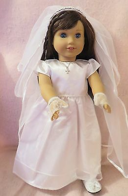 Communion Dress Set 3 fits American Girl Doll18 Inch Clothes Seller lsful