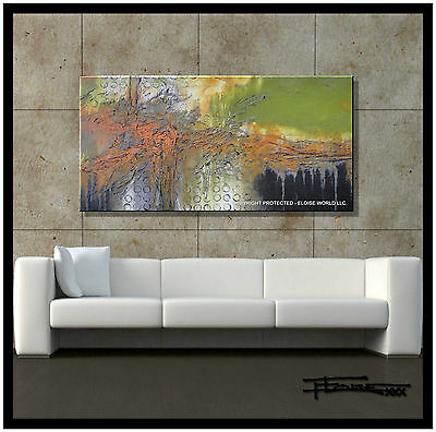 Direct from Artist Large MODERN ABSTRACT CANVAS PAINTING Wall ART  ELOISExxx