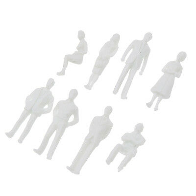 50X 1:50 Scale Model Miniature White Figures Architectural Model Human ABS Scale