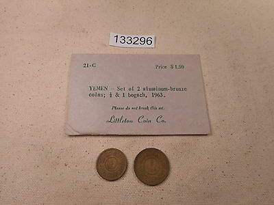 Vintage Littleton Coin Co Yemen Two Coin Set Original Envelope - # 133296