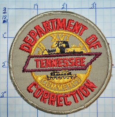 Tennessee Department Of Correction Vintage Police Patch