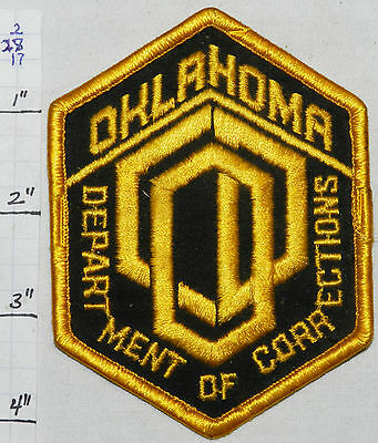 Oklahoma State Department Of Corrections Police Dept Patch