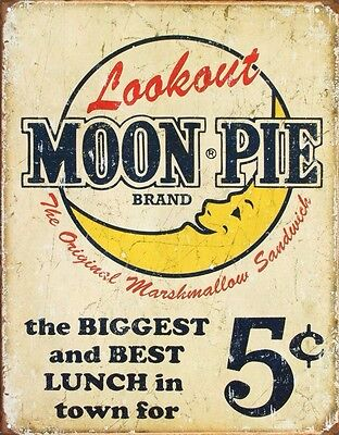 Vintage Classic Moon Pie Best Lunch Tin Sign 13 x 16in