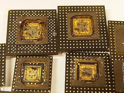 10 old ceramic nortel mixed cpu's for gold recovery scrap