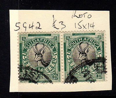 Stamps (x2) ~ SOUTH AFRICA Pair SG42 ~ #19