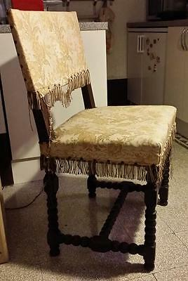 Pair of Italian Renaissance revival style hand carved chair Florence c 1890