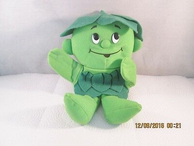 Jolly Green Giant Little Green Sprout Puppet Advertising Toy 10 Inches Plush