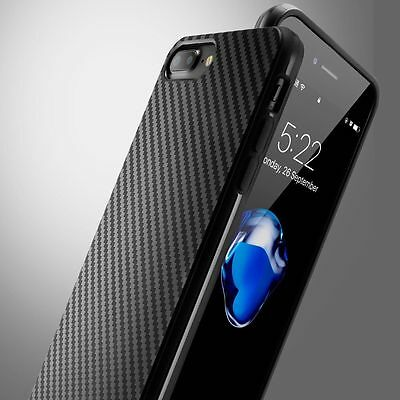 Carbon Ultra Slim TPU Gel Skin Cover Case Pouch for iPhone X 8 7 6s 6 Plus 5 SE