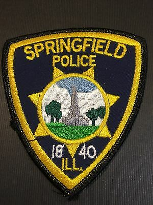 Springfield Illinois  Police  Shoulder Patch