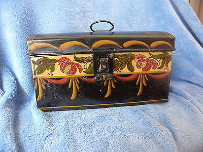 Vintage Toleware - Tole Ware Painted Tin Box