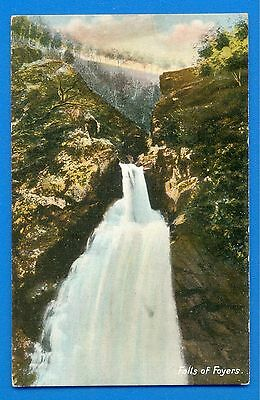Falls Of Foyers.caledonian Canal.tucks Grained Art Colortint Postcard