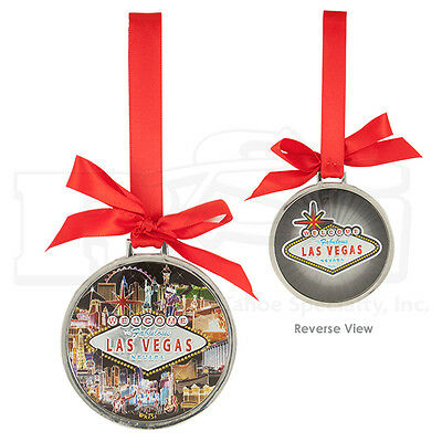 Las Vegas Sign Strip Hotels Foil Finish Hanging Christmas Ornament