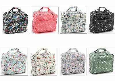 Sewing Machine Bag Sewing Machine Carry Case.Matt PVC 20x43x37cm Various Designs