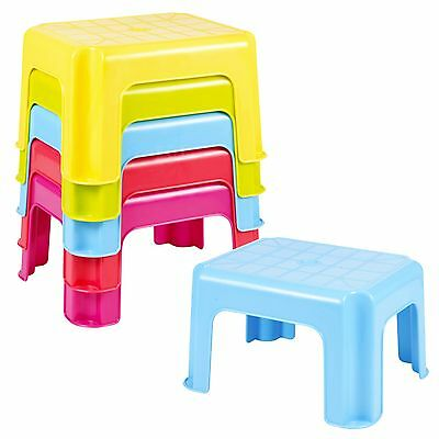Multi Purpose Sturdy Plastic Step Stool Stackable Kids Seat Anti-Slip Foot High