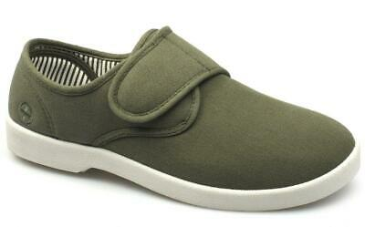 Dr Keller ROB Mens Casual Canvas Wide Summer Comfy Touch Fasten Bar Deck Shoes