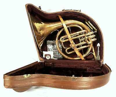Vintage 250697 Pan American 1953 Conn French Horn Bach Mouthpiece Hardshell Case