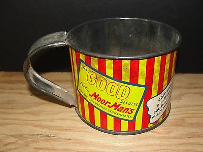Vintage Farm Tin Measuring Cup Moorman's Cow Feed