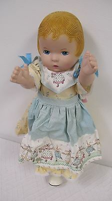 "Daisy Kingdom Doll 17""  Pansy 1991 Country Dress Bunny Rabbits"