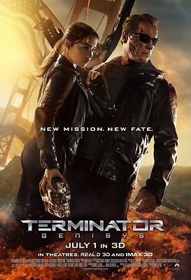 Terminator Genisys - original DS movie poster - 27x40 D/S Final B