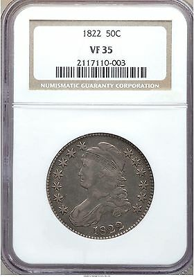 1822 Capped Bust Half Dollar VF35 NGC