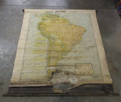 Cram South America Canvas Historical Large Old Map Wall Art Vintage c