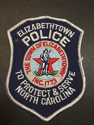 Elizabethtown North Carolina  Police  Shoulder  Patch