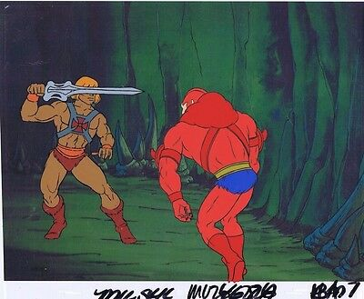 He-Man Masters of the Universe Original Animation Cel & Copy Bkgd #A19044