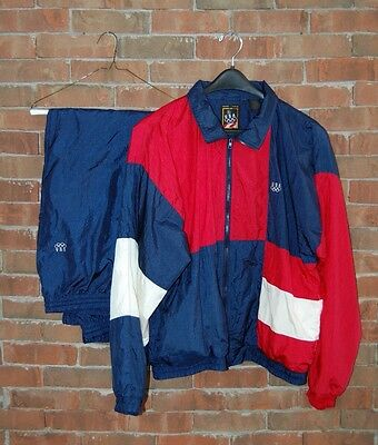 Mens Size Large USA OLYMPICS  Vintage 80's Windbreaker Track Suit Red White Blue