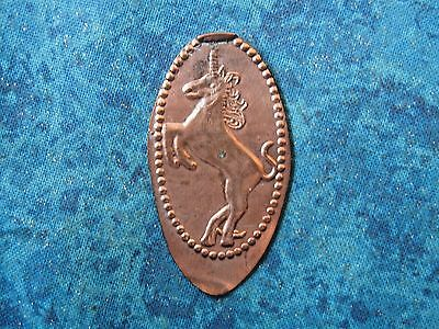 UNICORN Elongated Penny Pressed Smashed 27D