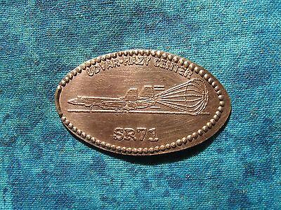 SR-71 UDVAR HAZY CENTER COPPER Elongated Penny Pressed Smashed 12