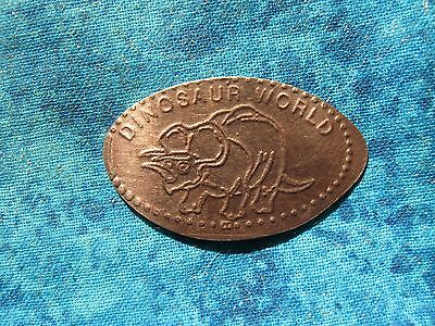 DINOSAUR WORLD COPPER Elongated Penny Pressed Smashed 12