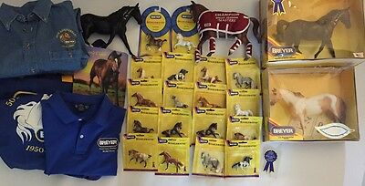 Breyer Horse LOT 18 Stablemates,Horses in Boxes, Breyerfest Totes,Shirts HTF