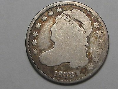 1833 Capped Bust US Dime.  #12